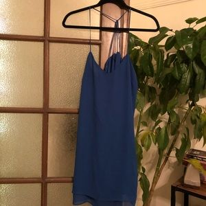Strappy royal blue topshop dress